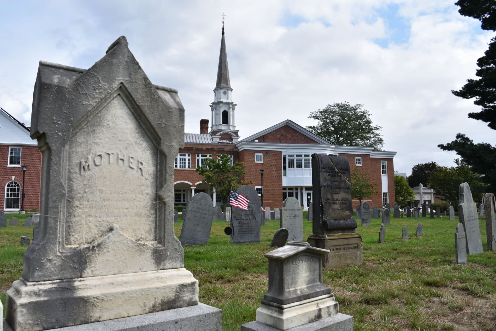 Closeup of gravestone