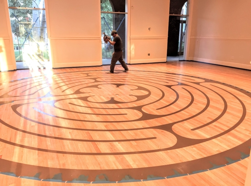 Labyrinth in the chapel