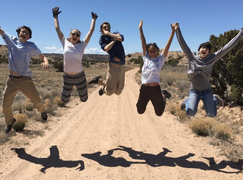 Youth expressing joy