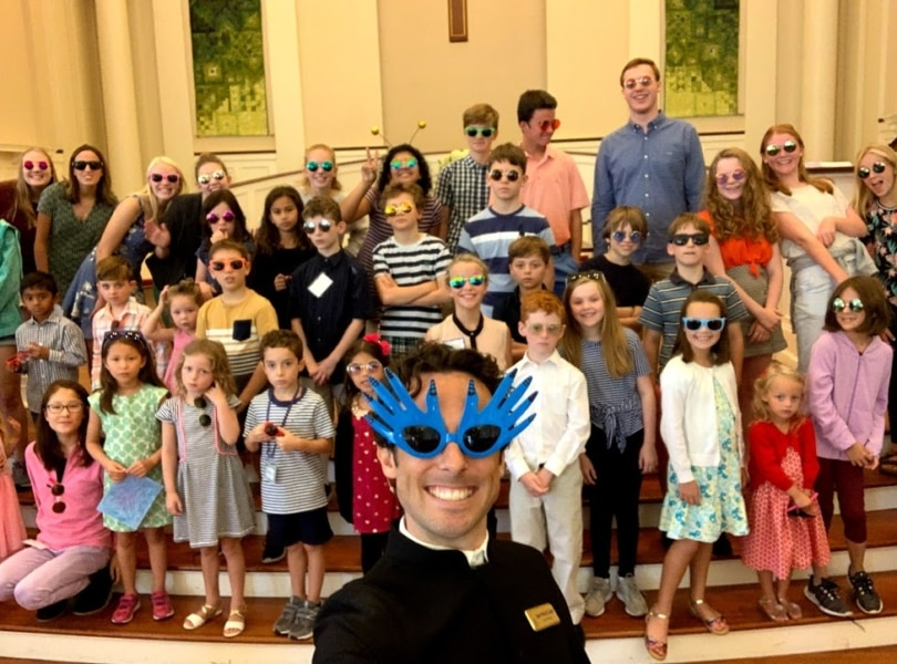 Rev. Coady and youth group