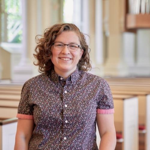 Pastoral resident Megan Berkowitz in sanctuary